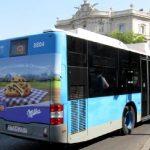 publicidad tradicional en autobuses