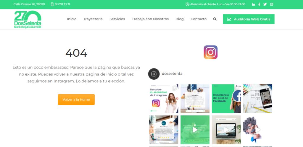 como solucionar errores 404